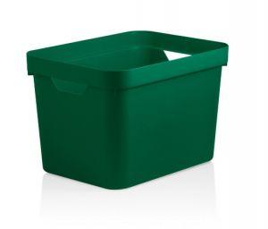 Caixa Organizadora Cube M 18 L  Verde Botânico - Ou