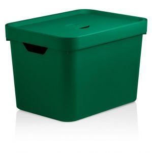 Caixa Organizadora Cube M 18 L Com Tampa Verde Botânico - Ou