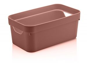 Caixa Organizadora Cube P 5,3L Terracota - Ou