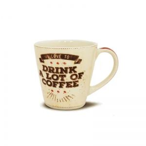 Caneca De Cerâmica Lot Of Coffee 405 Ml Corona - Yoi