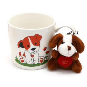 CANECA DE PORCELANA COM ADEREÇO DOG 325ML - ROJEMAC 26127-DOG