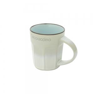 Caneca Porcelana Off White & Azul Allure 270ml - Bon Gourmet