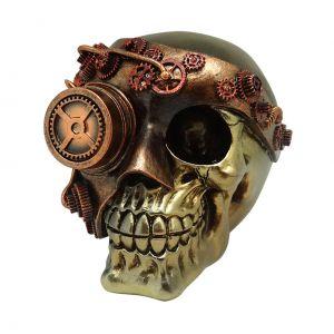 Caveira Resina Exterminator Mask Bronze 11.3X14.9X11.7Cm - Urban