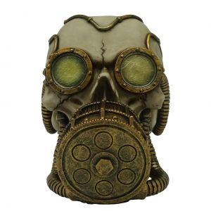 Caveira Resina Oxigen Mask Bege 10,8 X 17,2 X 11,5 Cm  - Urban