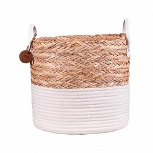 Cesto de Corda Seagrass com Algodão M – Yoi