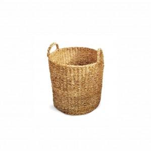 Cesto Seagrass Redondo Com Alça Manik 25cm Tyft - Yoi