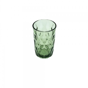 Cj 6 Copos Altos 350ml de Vidro Verde Diamond - Lyor