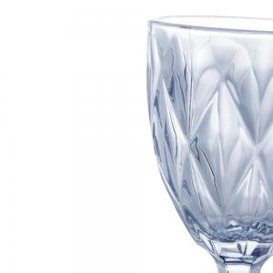 Cj 6 Taças p/ Água 325ml de Vidro Azul Metalizado Diamond - Lyor