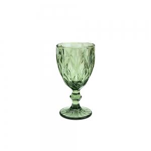 Cj 6 Taças p/Água 325ml Vidro Diamond Verde - Lyor