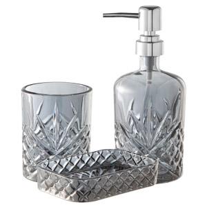 Conjunto 3 Peças para Banheiro em Vidro Minsk Prata - Rojemac