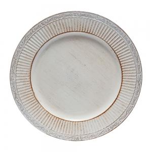 Conjunto 6 Sousplats Plástico Branco 33cm - Rojemac