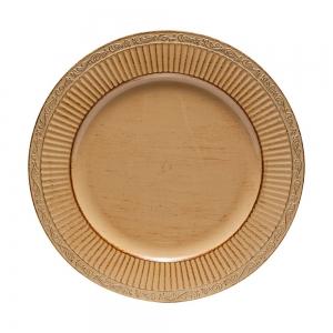 Conjunto 6 Sousplats Plástico Dourado 33cm - Rojemac