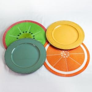 Conjunto 6 Sousplats Plástico Verde 33cm - Rojemac