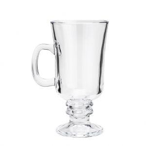 Conjunto 6 Taças Cappuccino Com Alça E Pé De Vidro 250 Ml - Lyor