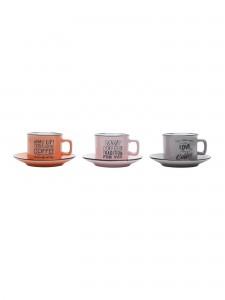 Conjunto Com 6 Xícaras Coloridas Em Porcelana - Rojemac