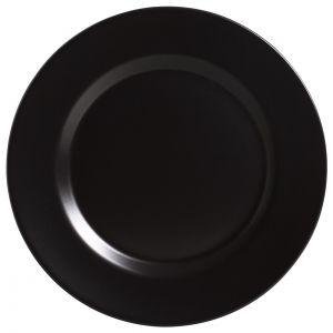 Conjunto Prato Raso 28,5Cm  Preto Acetinado -  Alleanza