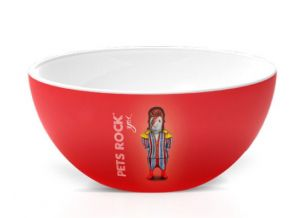 BOWL PETS ROCK GLAM ROCK 550ML CORONA - YOI 810300331