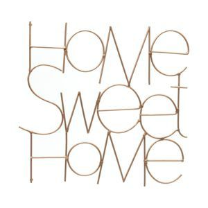 DECOR METAL WIRES HOME SWEET HOME COBRE 28X1,5X28cm - URBAN