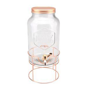Dispenser/Suqueira C/Suporte Long Round Cobre 5,6 Litros - Urban