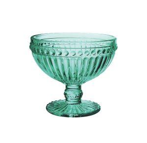 Conjunto 6 Taças Empire Sobremesa De Vidro Azul Tiffany 300Ml - Lyor