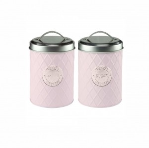 Kit 2 Latas em Metal Geometric Handle Lilás – Urban