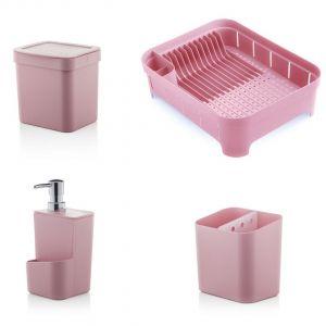 Kit Trium 4 Peças Rosa Quartz - Ou