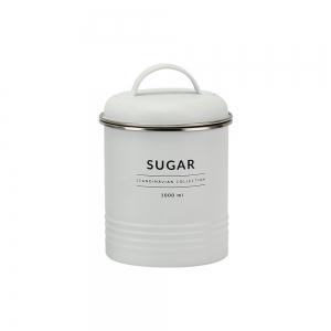 Lata de Metal c/ Tampa Sugar Branco Copenhag - Yoi