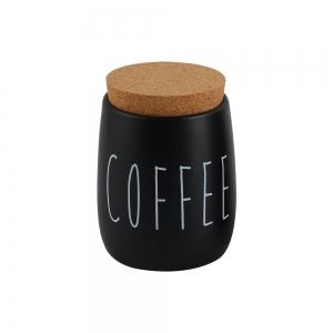 Lata Metal c/ Tampa Cortiça Coffee Preto Oak - Yoi