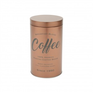 Lata Metal Expresso Round Coffee Beans Cobre - Urban