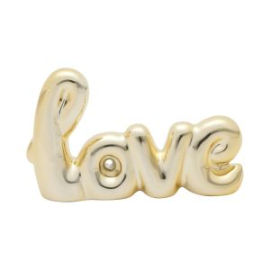 LETRAS DECORATIVAS CERÂMICA LOVE HAND WRITING DOURADO 12,5X1,5X8 CM - URBAN 42848