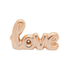Letras Decorativas Cerâmica Love Handwriting Cobre 12,5X1,5X8 Cm - Urban