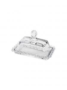 Manteigueira de Cristal com Detalhe Bolinha