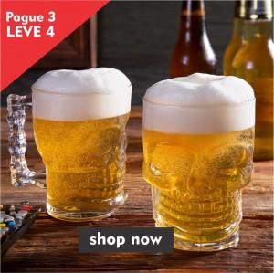 Pague 3 Leve 4 - Caneca Para Chopp E Cerveja De Vidro 510Ml - Lyor
