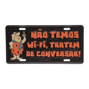 Placa De Carro Alumínio Wb Hb Fred Flintstones Preto - Urban