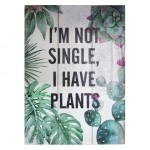 PLACA MADEIRA RUSTIC WOOD PLANTS VERDE 25 X 3,5 X 35 CM  - URBAN 40359