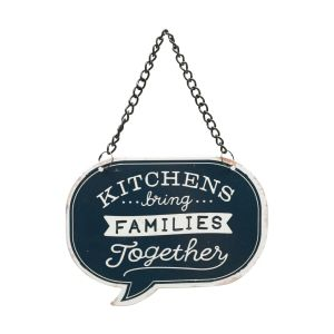 Placa Metal Recortada Quotes Family Together Azul 11,5X8,5Cm - Urban