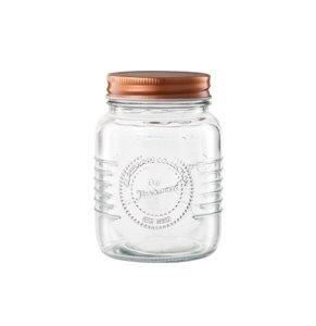 Pote de Vidro c/ Tampa Rose Gold Old Fashion 500 ML - Lyor