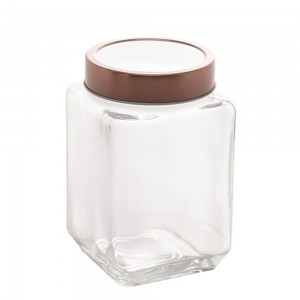 Pote de Vidro c/ Tampa Rose Gold Fashion 1,2L – Lyor