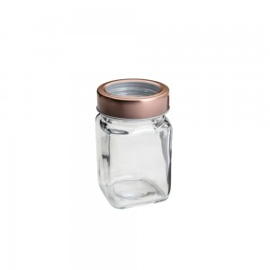 Pote de Vidro c/ Tampa Rose Gold Fashion 300ml - Lyor