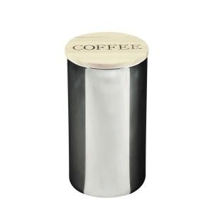 Pote de Vidro Cinza com Tampa de Madeira Coffee- Urban