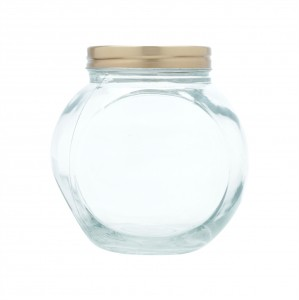 Pote De Vidro Com Tampa Cor Cobre 15 Cm Candle Glass - Urban
