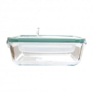 Pote Hermético de Vidro Transparente com Tampa Plástica 1lt- Lyor