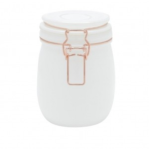 POTE VIDRO BOROSSILICATO SOLID COLOR COPPER CLIP BRANCO 780 ML - URBAN 44162
