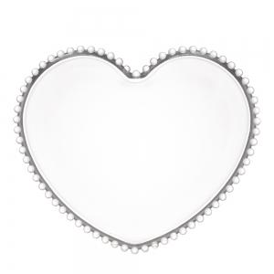 Prato 25cm Cristal Coração Pearl - Wolff
