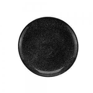 Prato de Sobremesa Cristal Preto Dots 21cm - Wolff