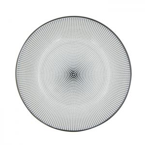 PRATO PORCELANA DECOR DOT ANGLES PRETO E BRANCO 20,4X20,4X4,9 CM - URBAN 42473