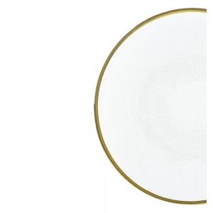 Prato Raso Cristal c/ Borda Dourada Linen 26cm - Wolff