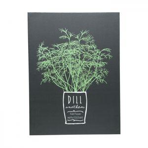 Tela Dill Herbs Fd Preto 30X40X1.5Cm - Urban