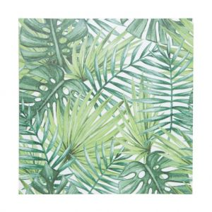 Tela Palm Tree Leaves Verde 40X40X1.5Cm  - Urban