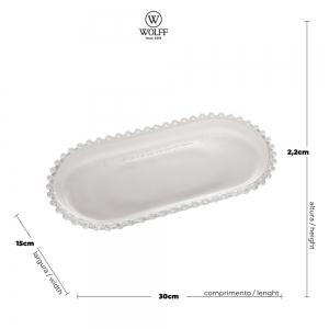 Travessa Oval Cristal 30x15 Pearl - Wolff